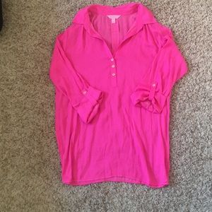 Lily bright pink blouse
